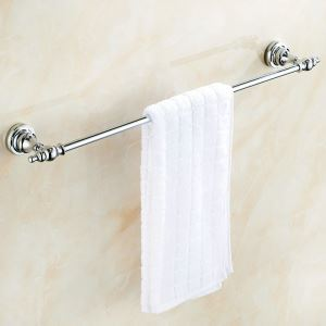 Towel Rack for Bathroom Copper Chrome Plating Craft European Style  Towel Bar