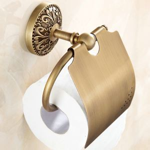 Toilet Roll Holder for Bathroom Copper Brushed Finish Retro Toilet Roll Holder