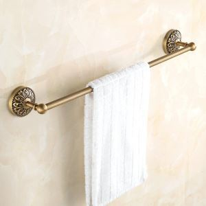 Towel Rack for Bathroom Copper Brushed Finish Retro Towel Bar