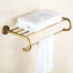 Towel Rack for Bathroom Copper Brushed Finish Retro Bathroom Towel Bar