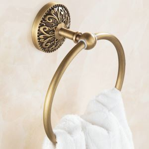 Towel Ring for Bathroom Copper Brushed Finish Retro Bathroom Towel Ring