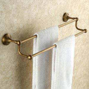 Towel Rack for Bathroom Copper Brushed Finish Retro Bathroom Towel Bar Double Racks