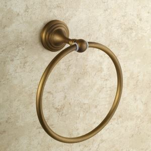 Towel Ring for Bathroom Copper Brushed Finish Retro Towel Ring