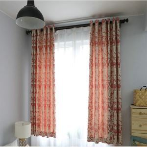 Blackout Curtain American Simple Environment Protective Curtain Animal Jacqard Cotton and Linen Curtain Children Room Curtain