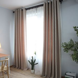 Blackout Curtain Jacquard Curtain European Environment Protective Simple Style Cotton and Linen Curtain