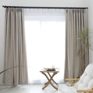Blackout Curtain Modern Simple Style Curtain Living Room Office Curtain Wavy Pattern Curtain