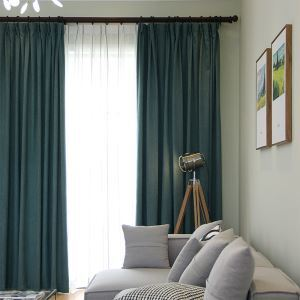 Blackout Curtain Japanese Simple Style Living Room Bedroom Decorative Curtain