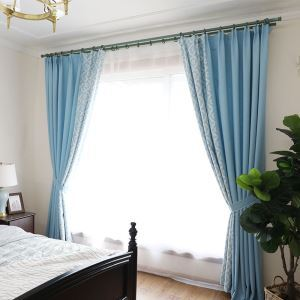 Blackout Curtain Modern Simple Diamond Printed Curtain Special Design Bedroom Curtain