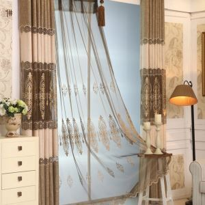 Embroidery Curtain European Living Room Bedroom Sheer Curtain Beautiful Pattern Curtain