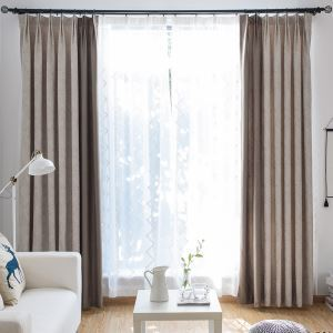 Blackout Curtain Modern European Style Decorative Abstract Feather Pattern Living Room Curtain