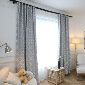 Blackout Curtain Modern Simple Linen Curtain Decorative Bedroom Curtain Plaid Jacquard Curtain