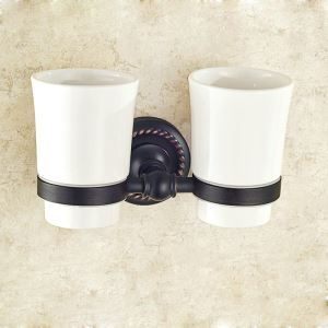 Toothbrush Cup Holder for Bathroom Oil Rubbed Bronze Craft Black Retro Toothbrush Holder
