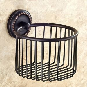 Toilet Roll Holder for Bathroom Oil Rubbed Bronze Craft Black Retro Copper Toilet Roll Holder
