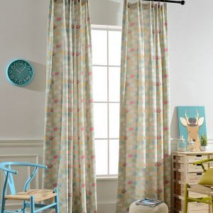 Cartoon Animal Print Curtain Kids Room Bedroom