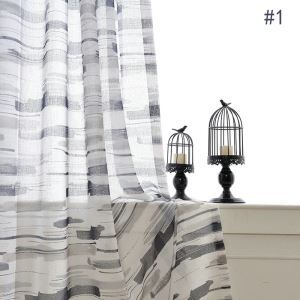 Modern Minimalist Shher Curtain Unique Art Printing Voile Curtian Panle Kids Room Living Room Bedroom