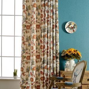 American Blackout Curtain Spring Scenery Printing