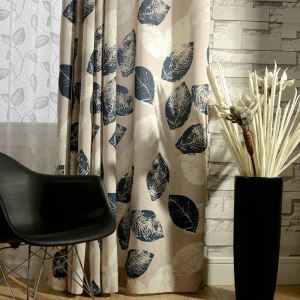 Environmental Protection Curtain Cotton and Hemp Ventilation Printing Window Treatment