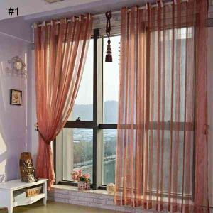 Custom Sheer Curtain Kent Traditional Window Treatment ( One Panel )
