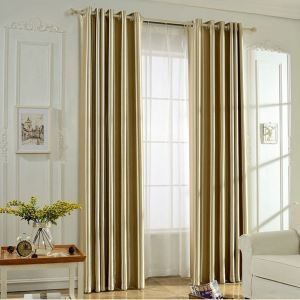 Modern Minimalist Blackout Curtain Solid Color Room Darkening Office Bedroom