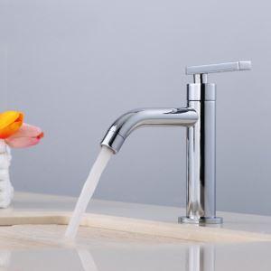 Bathroom Sink Faucet Copper Mixer Basin Tap Chrome