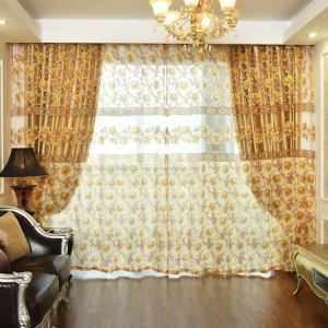 Minimalist Volie Curtain Panle Environmental Protection Jacquard Window Sheer Living Room