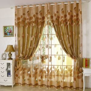 Modern Sheer Curtain Minimalist Jacquard Living Room