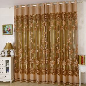 Gorgeous Voile Curtain Coffee Sheer Curtain Panel