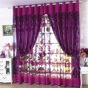 Breathable Sheer Curtain Jacquard Window Treatment