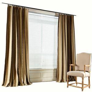 Chenille Max Blackout Curtain Modern Minimalist Stripe Jacquard Window Treatment