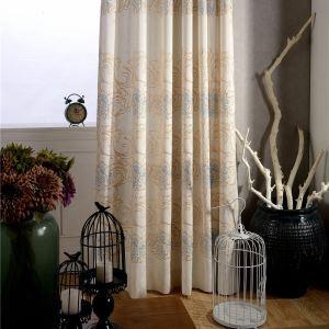 Minimalist Room Darkening Curtain Environmental Cotton and Linen Window Treatment