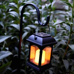 Solar Candle Lantern Outdoor Decorative Solar Powered Candle Light LEH-55155G