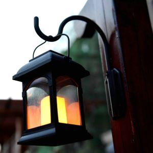 Solar Candle Lantern Outdoor Decorative Solar Powered Candle Light LEH-55155W