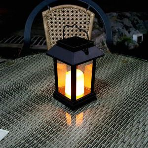 Solar Candle Lantern Outdoor Decorative Solar Powered Candle Light LEH-55143