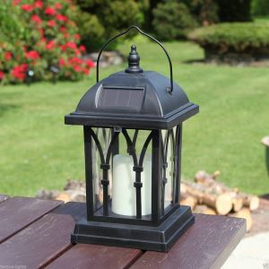 Solar Candle Lantern Outdoor Decorative Solar Powered Candle Light LEH-55142G