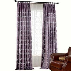 Soft Velvet Blackout Curtain Kids Room Embroidery Room Darkening