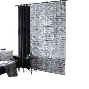 Digital 5D Printing Curtain Modern Minimalist Room Darking