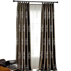 Velvet Curtain Modern Minimalist Embroidered Blackout Curtain
