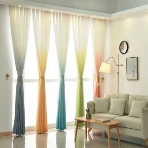 Modern Room Darking Curtain Minimalist Printing Polyester Curtain