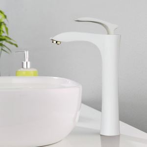 Bathroom Sink Faucet Bathroom Mixer Tap for Above Counter Sink Stoving Varnish 2037-A