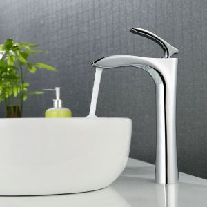 Chrome Bathroom Sink Faucet Bathroom Mixer Tap for Above Counter Sink 2037-A