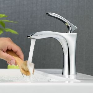 Chrome Bathroom Sink Faucet Bathroom Mixer Tap for Under Counter Sink 2037-A