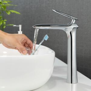 Chrome Bathroom Sink Faucet Bathroom Mixer Tap for Above Counter Sink 2035