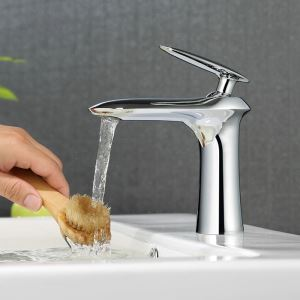 Chrome Bathroom Sink Faucet Bathroom Mixer Tap for Under Counter Sink 2035