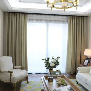 Coffee Room Darkening Curtain Modern Breathable Blackout Curtain Living Room Bedroom