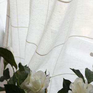Minimalist Sheer Curtain Large Lattice Jacquard Voile Curtain Panel Living Room