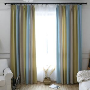 Modern Max Room Darkening Curtain Panel Minimalist Jacquard Blackout Curtain Living Room Kids Room