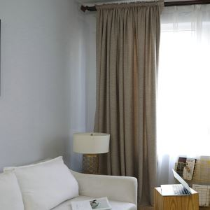 Semi Blackout Curtian Classic Minimalist Room Darkening Curtain Panle for Living Room Bedroom