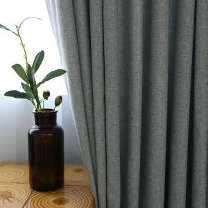 Classic Room Darkening Curtain Minimalist Solid Color Blackout Curtain Panel Living Room Bedroom