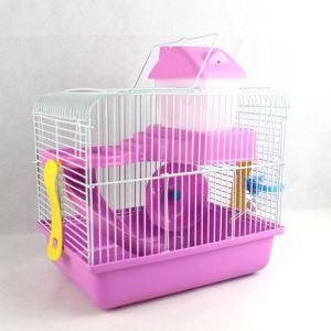 Gamster Cage Habitat Shelter Playground 2 Floors Red