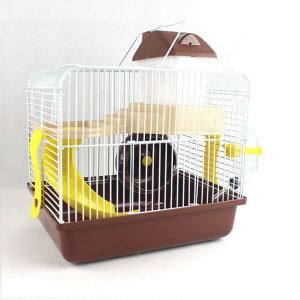 Gamster Cage Habitat Shelter Playground 2 Floors Coffee